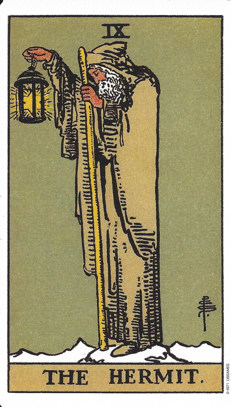 The Hermit Tarot Card Meaning In Readings Isolation: The Angel Card Reader